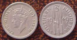 (J) SOUTHERN RHODESIA: 3 Pence 1949 XF+ (1805) - Rhodésie