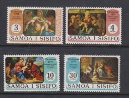 Samoa 1974 Christmas Painting Set 4 MNH - Samoa