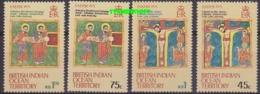 British Indean Ocean Territory 1973 Christmas 4v ** Mnh (18185) - Brits Indische Oceaanterritorium