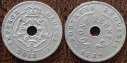 (J) SOUTHERN RHODESIA: Penny 1939 VF+ (1854) - Rhodésie