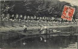 Dept Div - Somme - Ref- V913 -   Amiens - Marche Sur L Eau -  Marches - Carte Bon Etat - - Amiens