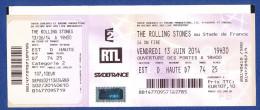 THE ROLLING STONES Au Stade De France Le Vendredi 13 Juin 2014. - Tickets D'entrée