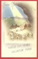 CARTOLINA VG ITALIA - BUON NATALE - Gesù Bambino Con Le Pecorelle - 9 X 14 - ANNULLO 1953 PINEROLO - Natale