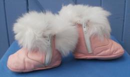 Chaussures, Bottes Roses Vintage, Marque BIQUET - Taille 19 - Shoes