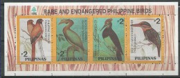 Philippines: Philippine Trogon / Rufous Hornbill / White-bellied Woodpecker / Spotted Wood Kingfisher - Collections, Lots & Séries