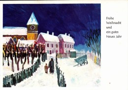Frohe Weihnacht Und Ein Gutes Neues Jahr - Dennoch Verlag - Hand Und Fußmalerei - Ansichtskarten