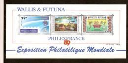Wallis Et Futuna 1989 Yvertn° Bloc 4 *** MNH Cote 29 Euro - Blocs-feuillets