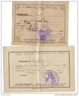 Permission De Huit Et De Spectacle 5 ème Escadron Du Train 1945 - Vieux Papiers