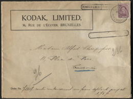 20c Albert Obl. BRUXELLES S/ Lettre CONTRE REMBOURSEMENT TERUG BETALING 1,75fr Vers Tournai 1919 PHOTO KODAK (634) - 1915-1920 Alberto I