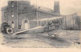 SOMME  80  GUERRE 14 18  AVIATION  APPAREIL ALLEMAND CAPTURE PAR L'AVIATEUR GILBERT, PRES DE VILLERS BOCAGE JANVIER 1915 - France