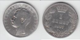 **** SERBIE - SERBIA - 1 DINAR 1897 ALEXANDER I - ARGENT - SILVER **** EN ACHAT IMMEDIAT - Serbie