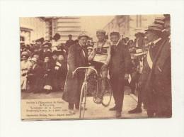 Arrivée à L´exposition De Nancy, De Valloton, Vainqueur De La Course Strasbourg Nancy, Le 15 Août 1909 - Cyclisme