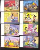 #  S-728   MINT NEVER HINGED SET OF STAMPS OF DISNEY ; PHILA NIPPON '91 ;  ( UGANDA  888-95 - Disney