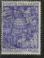ITALIA REPUBBLICA ITALY REPUBLIC 1950 ANNO SANTO HOLY YEAR LIRE 20 USATO - USED - OBLITERE´ - 1946-.. République