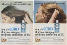 1967 - Shampoo ULTREX -  2 Pagine Pubblicità Cm.13 X 18 - Riviste