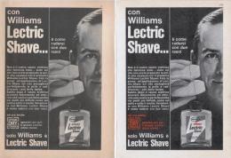 1967 -  LECTRIC SHAVE (Williams)  -  2  Pagine Pubblicità Cm. 13 X 18 - Magazines