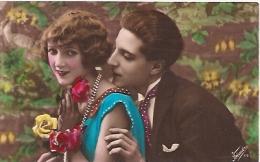 PAREJA COUPLE PAAR MA MOITIÉ LOVERS BOYFRIENDS NOVIOS GROOMS ENGAGEMENT EDI. FOTOCELERE ITALY CIRCULEE CIRCA 1910 GECKO. - Koppels