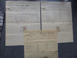 GARD? Sommières, Lot De 3 Factures Pouget Paulin Au Comte De Clerveaux, Garrigues, V 1900 ; Ref 691 - 1900 – 1949