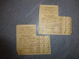 Guerre 14-18 THURAGEAU (86) Lot De  2 Cartes Ravitaillementre Famille CALENDRIER  ; F 759 - Historische Documenten