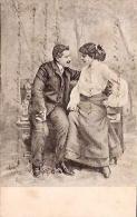 PAREJA COUPLE PAAR MA MOITIÉ LOVERS BOYFRIENDS NOVIOS GROOMS ENGAGEMENT ILLUSTRATION EDI. PAS ÉMIS VOYAGÉE 1905 GECKO. - Koppels