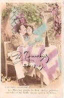 PAREJA COUPLE PAAR MA MOITIÉ LOVERS BOYFRIENDS NOVIOS GROOMS ENGAGEMENT Nº4 PAS ÉMIS CIRCULEE 1905 GECKO. - Koppels