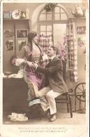 PAREJA COUPLE PAAR MA MOITIÉ LOVERS BOYFRIENDS NOVIOS GROOMS ENGAGEMENT Nº1854 PAS ÉMIS VOYAGÉE CIRCA 1905 BELLE! GECKO. - Koppels