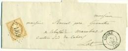 France - 21 Sur Lettre De Cahors Vers Cahors Du 11/10/1865, See Scan - 1862 Napoleon III