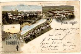 Gruss Aus Morchingen - Précurseur - Cachet De Morchingen à Dieuze - Morhange