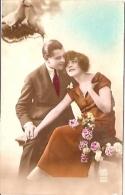 PAREJA COUPLE PAAR MA MOITIÉ LOVERS BOYFRIENDS NOVIOS GROOMS ENGAGEMENT Nº682 EDIT.C.B FRANCE VOYAGÉE 1941 GECKO. - Koppels