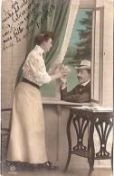 PAREJA COUPLE PAAR MA MOITIÉ LOVERS BOYFRIENDS NOVIOS GROOMS ENGAGEMENT Nº1494/3 EDIT.R.J BARBIERI CIRCULEE 1904 GECKO. - Koppels
