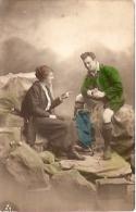 PAREJA COUPLE PAAR MA MOITIÉ LOVERS BOYFRIENDS NOVIOS GROOMS ENGAGEMENT Nº7318/5 ED.PAS ÉMIS VOYAGÉE CIRCA 1908 GECKO. - Koppels