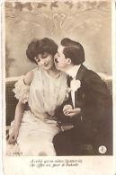 PAREJA COUPLE PAAR MA MOITIÉ LOVERS BOYFRIENDS NOVIOS GROOMS ENGAGEMENT Nº320/2 EDIT.? VOYAGÉE CIRCA 1910 GECKO. - Koppels