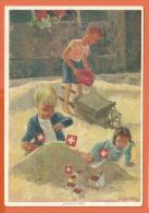 Nov123, 1 Août, 1 August, 1 Agosto, Fête Nationale 1937, Bundesfeier,Croix Rouge,Rote Kreuz,GF, Circulée 1944 - Croce Rossa