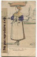 - 1905 - Types BORDELAIS - Marchande De Royan, Splendide, Signée, écrite En 1906, Cachets, BE, Scans. - Bordeaux