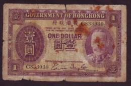HONGKONG - 1 Dollar 1935 - George V. - Hongkong