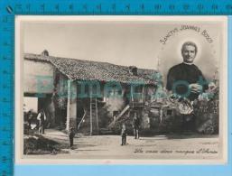 Saint Jean Bosco, La Maison Natale Du Saint-  Vera Photografia Real Photo Postcard Carte Postale 2 Scans - Saints