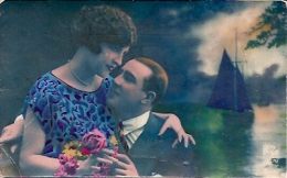 PAREJA COUPLE PAAR MA MOITIÉ LOVERS BOYFRIENDS NOVIOS GROOMS ENGAGEMENT Nº4578 EDIT.NOYAER VOYAGÉE CIRCA 1920 GECKO. - Koppels