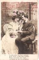 PAREJA COUPLE PAAR MA MOITIÉ LOVERS BOYFRIENDS NOVIOS GROOMS ENGAGEMENT PAS ÉMIS VOYAGÉE 1906 TIMBRE ARRACHES GECKO. - Koppels
