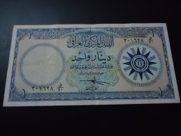 1959 IRAQ RARE 1 DINAR ( P 53 )
