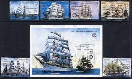 AZERBAIJAN 1997 Rotary Anniversary Overprint On Ships (6v + Block) MNH / ** - Azerbaïjan