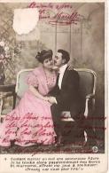 PAREJA COUPLE PAAR MA MOITIÉ LOVERS BOYFRIENDS NOVIOS GROOMS ENGAGEMENT Nº313 EDIT.? CIRCULEE 1906 TIMBRE ARRACHESGECKO. - Koppels