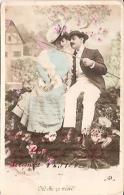 PAREJA COUPLE PAAR MA MOITIÉ LOVERS BOYFRIENDS NOVIOS GROOMS ENGAGEMENT ED.A.R CIRCULEE 1906 TIMBRE ARRACHES GECKO. - Koppels