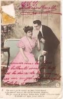 PAREJA COUPLE PAAR MA MOITIÉ LOVERS BOYFRIENDS NOVIOS GROOMS Nº3 PAS ÉMIS CIRCULEE 1906 TIMBRE ARRACHES GECKO. - Koppels