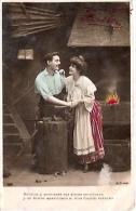 PAREJA COUPLE PAAR MA MOITIÉ LOVERS BOYFRIENDS NOVIOS GROOMS ED.A.N PARIS Nº489 VOYAGÉE CIR 1909 TIMBRE ARRACHES GECKO. - Koppels
