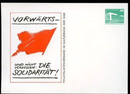 DDR PP18 B1/006 Privat-Postkarte SOLIDARIT�T Schwerin 1982
