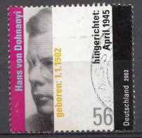 Bund 2002  Mi.nr.:2233  Gestempelt / Oblitérés / Used - Oblitérés