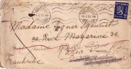 FINLANDE - HELSINKI LE 24-1-1931 - POUR LA FRANCE - VERSO DIVERS CACHETS. - Finlande