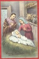 CARTOLINA VG ITALIA - BUON NATALE - ILLUSTRATA - Natività - Sacra Famiglia - 9 X 14 - ANN. 1940 - Natale