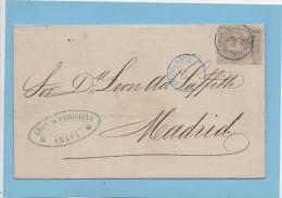 Carta Araya (Alava , Vitoria) 2 DIC 1872 Madrid ,Edifl No.122 , AMBULANTE NORTE - Cartas