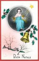 CARTOLINA VG ITALIA - BUON NATALE - ILLUSTRATA - Gesù Bambino - Campanella - CECAMI 4143 - 9 X 14 - ANN. 1940 - Natale